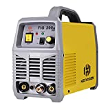 TIG Welder - HZXVOGEN TIG Welder 220V 200A TIG ARC Stick MMA IGBT DC Inverter Continuous High Frequency Welding Machine for Stainless Steel Carbon Steel (Model: TIG200A)