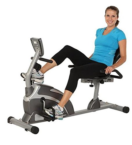 Exercise Equipment Exerpeutic 1000 High Capacity Magnetic Recumbent Bike & Pulse Best Selling