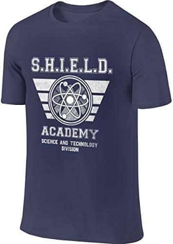 SHENGN Man Custom Fashion Tee Shirt Agents of Shield Logo Tshirts