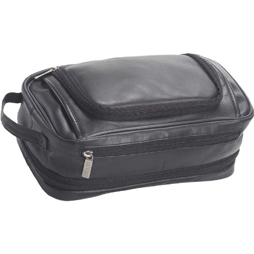 (Clava Leather Expandable Toiletry Case (Vachetta Black))