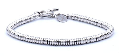 Double Bone - Double Bone Bracelet White Gold Beads Medium 19 cm (7.5 in) DBBS00S