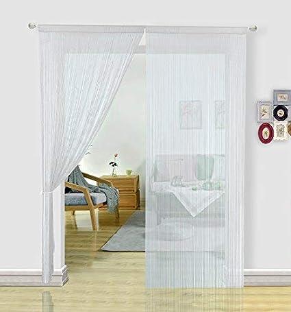 Rideau De Porte Accessoires Salle De Bain Rideaux Chambre Fille 1 Panneau Rose 90x200cm