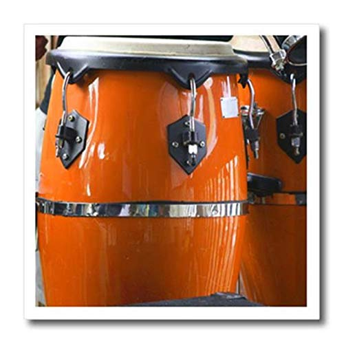 3dRose ht_156305_2 Orange Conga Drums-Iron On Heat transfer、15.24cmx15.24cm、白い素材用   B00E5J776W