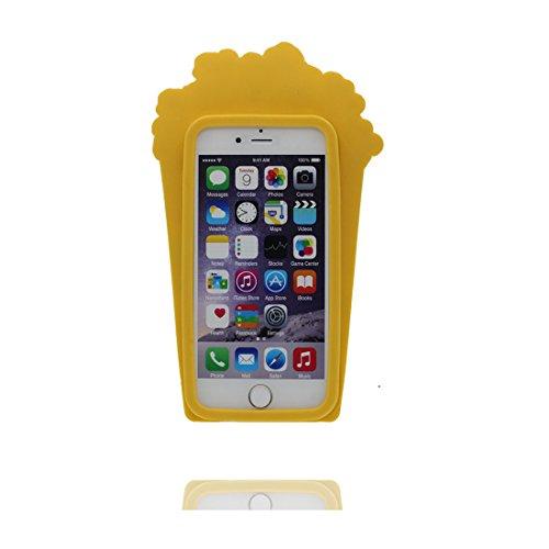 """iPhone 7 (4.7"""") Coque, [ de matériau TPU souple Popcorn ] iPhone 7 étui (4.7 pouces), poussière glissement résistant aux rayures, iPhone 7 Case et Bouchon anti-poussière"""