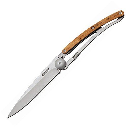 Deejo Linerlock Juniper Wood 27 Gram Folding Knife
