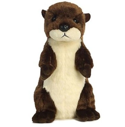 8 Inch Mini Flopsie Standing River Otter Plush Stuffed Animal by All - Monster High Wolf Dolls Family