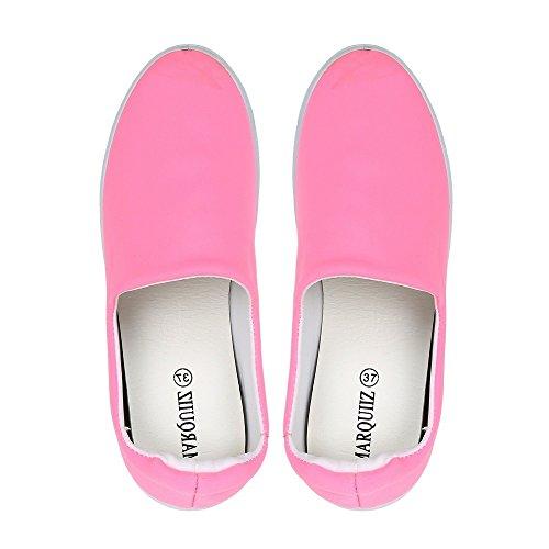 Ideal Shoes Slip-On Neopren Kaina Fuchsia