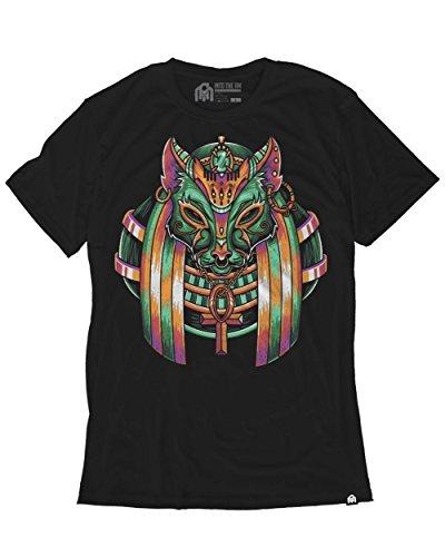 Ringspun Sleeveless T-shirt (INTO THE AM Bastet Men's Graphic Tee Shirt (2X-Large))