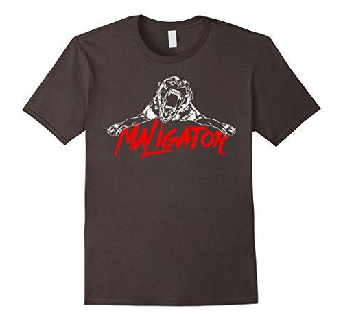 Mens Maligator Belgian Malinois Hund fun TEE Shirt T-Shirt gift Large Asphalt