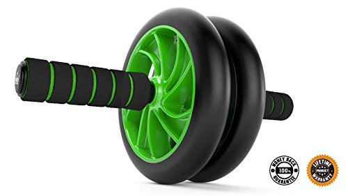 Ab Roller Wheel :: Abs Carver for Abdominal & Stomach Exercise Training :: Fitness Equipment Core Shredding :: Includes 2 Bonus E Books