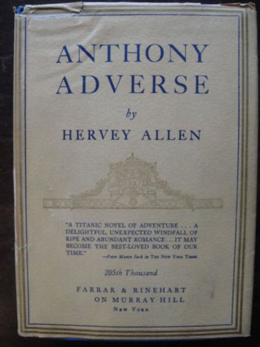 Anthony Adverse by Hervey Allen with illustrations by Allan McNab