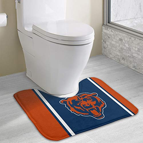 (Marrytiny Custom Colourful Non Slip U-Shaped Toilet Bath Rug Chicago Bears Football Team Anti-Bacterial Floor Contour Doormat Shower Mat Bathroom Carpet 19.3 x 15.7 Inches)