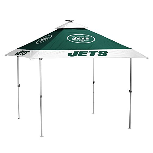 Logo Brands NFL New York Jets Pagoda Tent Pagoda Tent, Hunter, One Size