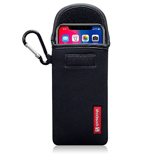 Coque iPhone X, Shocksock Étui / Housse en Neoprene pour iPhone X Étui - Noir