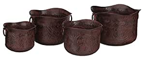 Regal Art & Gift Metal Planter Set of 4 Wild West Garden Decor