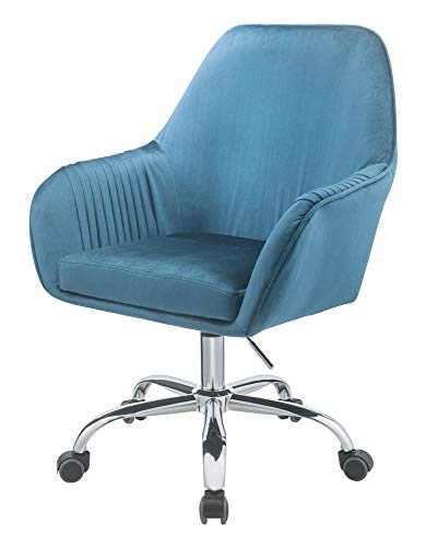 Office Chair in Teal and Chrome