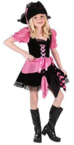 Pink Lace Pirate Hat - Pink Punk Pirate Dress Costume Child Medium 8-10