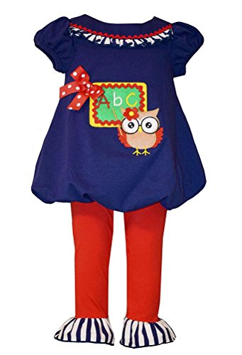 Bonnie Jean Little Girls Teacher Owl Tunic and Leggings 3T