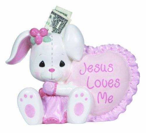 Precious Moments, Jesus Loves Me, Ceramic Bank, Girl, 132407