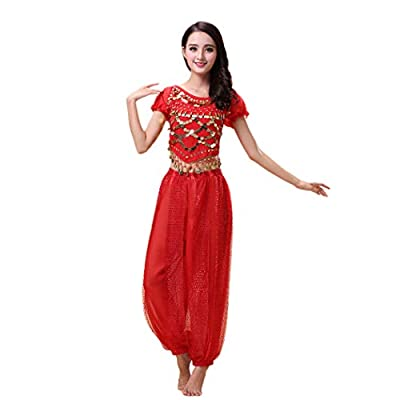 Maylong Women?s Harem Pants Belly Dancing Outfit Halloween Costume