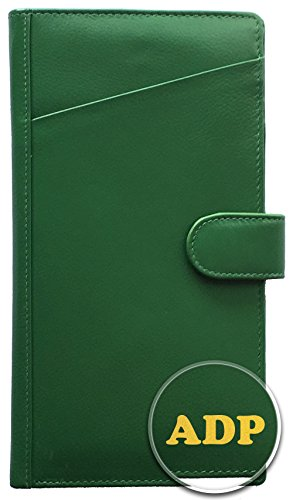 Personalized Monogrammed Emerald Green Leather RFID Travel Wallet (Wallet Green Travel)