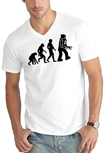 Evolution Robot V-Neck White Certified Freak
