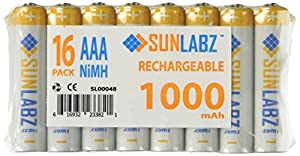 SunLabz NiMH Rechargeable Batteries