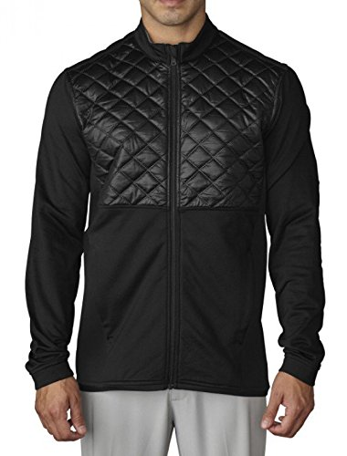 Adidas ClimaHeat Prime Quilted Full Zip Golf Jacket 2016 Black XX-Large -  TM5363F6