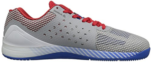 Reebok Mens Crossfit Nano 7,0 Cross-trainer Chaussure Blanche / Awesomeblue / Rouge / Noir / Gris Crâne Primitif
