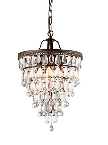 (Whse of Tiffany RL8076 Matinee Inverted Pyramid Chandelier)