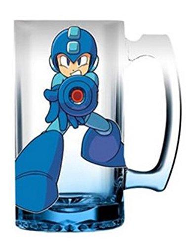 Mega Man 16oz Blue Gradient Glass Beer Mug (Megaman E Tank Mug)