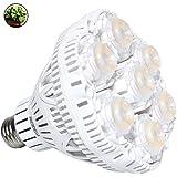 SANSI 40W Daylight LED Plant Light Bulb Full Spectrum Ceramic LED Grow Light Blub, E26 Plant Bulb Sunlight White Grow Light for Indoor Garden Farming Greenhouse Grow Walls, UV&IR, 90-132V