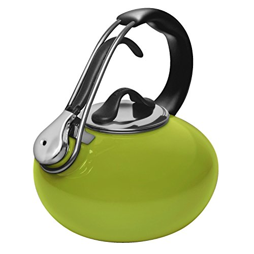 Chantal Enamel on Steel 1.8-Quart Loop Teakettle, Lime Green - Lime Green Tea