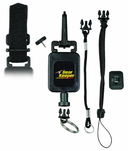Hammerhead Industries Gear Keeper RT4-5272 Deluxe Combo Mount Gear Tether - Snap, Threaded Stud, Velcro Strap and Lanyard Accessories - Features Heavy-Duty Snap Clip Q/C Split Ring-Made in USA