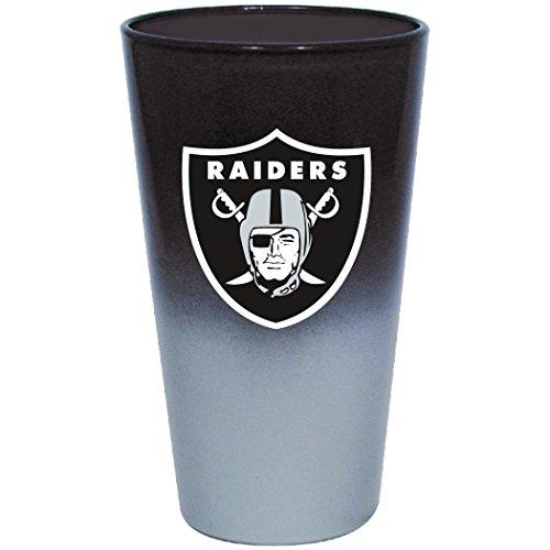 Hunter NFL Oakland Raiders Chrome Mixing Glass, 17 oz, - Oakland Clock Chrome Raiders