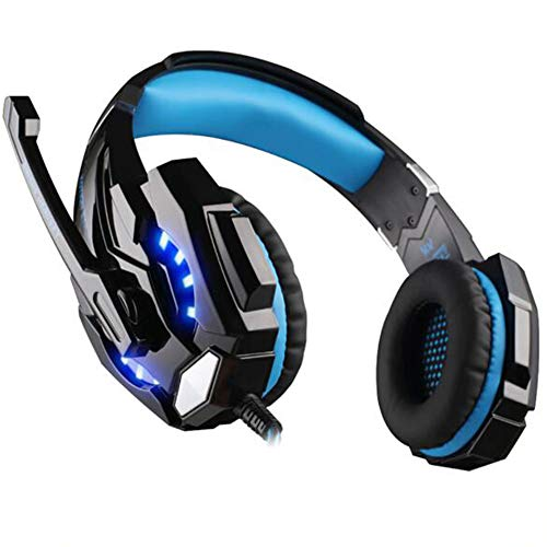Wired E-sports Headphones, Head-Mounted Gaming Headset with Rotatable Noise Reduction Mic And Volume Control for PS4…