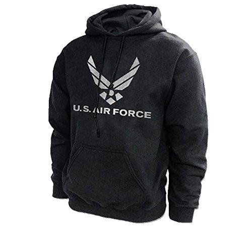 Honor Country AIR Force Medium Military Hooded Sweatshirt Black Adult Men's Women's Long Sleeve Hooded -