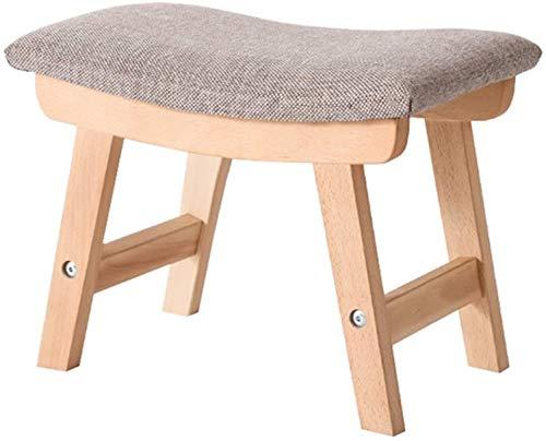 Taburete de epoca otomana cambiar sus zapatos el polvo de lino estacion de pasillo silla banqueta tapizada otomana estrado salon esteras de madera gris disponibles 38x24x29cm pesada,Grey