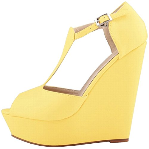 Zapatos amarillos formales Calaier para mujer UEfvfnsY5w