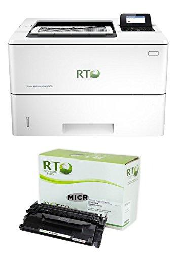 Renewable Toner M506n MICR Check Printer Package: LaserJet Enterprise M506n Printer and 1 RT CF287A 87A MICR Toner Cartridge; 9k yield