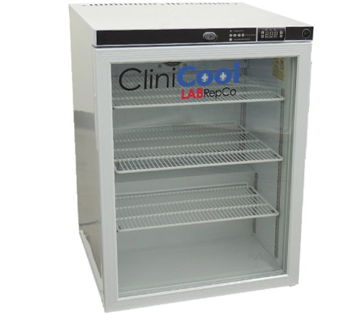 Silver Undercounter Refrigerator (CliniCool Silver Series PRIME 5. 2 Cu. Ft. Free Standing Glass Door Undercounter Pharmacy/Vaccine Refrigerator)