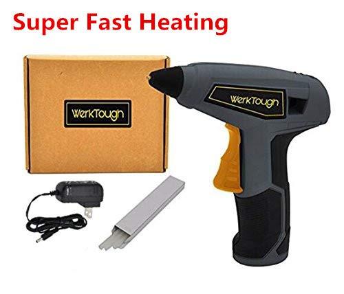 Werktough HG03 3.6V DIY Cordless Glue Gun Super Fast Heating - Cordless Glue Rechargeable Gun