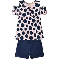 Conjunto Infantil com Shorts, Milon, Meninas