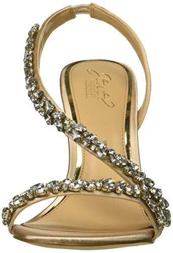 Sandal Mischka Heeled Java Women's Champagne Badgley fwYgxIdw
