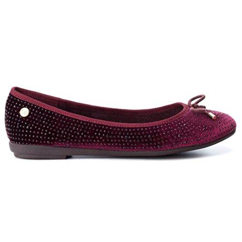XTI 047247 ZAPATO DE MUJER 047247 Textil Mujer Rojo