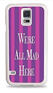 Popular We're All Mad Stripes ed Design White Silicone Phone Case for Samsung Galaxy S5