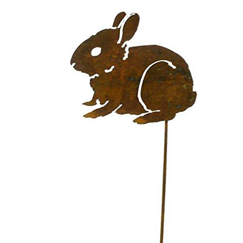 Elegant Garden Design Baby Bunny Garden Pick, Rusty Patina]()
