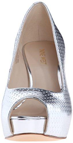 Nine West mujer qtpie metálico vestido Bomba Silver/Metallic