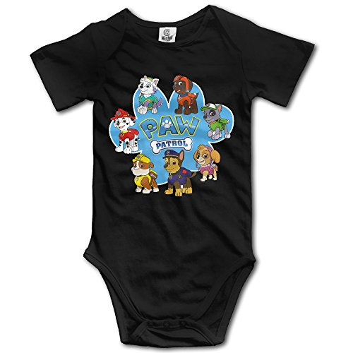 Lady Gaga Black Bodysuit Costume (NINJOE Toddler Paw Dog Patrol Short Sleeve RomperVest 24 Months Black)