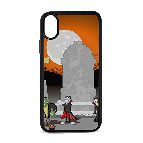 KEAKIA Halloween Charaters iPhone X Case Rubber Shockproof Cover Protective Case for Apple iPhone X/XS -